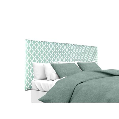 Alice Fulton Upholstered Panel Headboard Upholstery: Aqua/White, Size: Twin