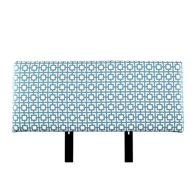 Alice Gigi Upholstered Panel Headboard Size: Twin, Upholstery: Blue/White