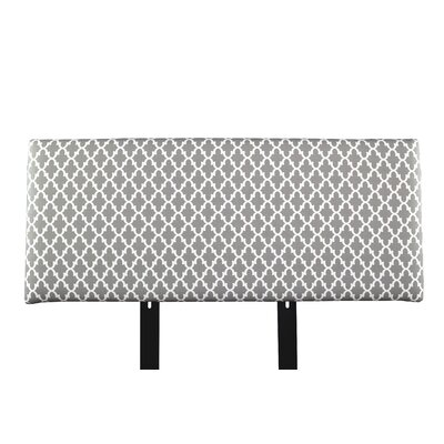 Alice Fulton Upholstered Panel Headboard Size: California King, Upholstery: Gray/White