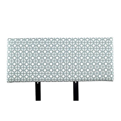 Alice Gigi Upholstered Panel Headboard Size: Twin, Upholstery: Blue/Gray