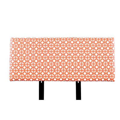 Alice Gigi Upholstered Panel Headboard Size: Queen, Upholstery: Orange/White