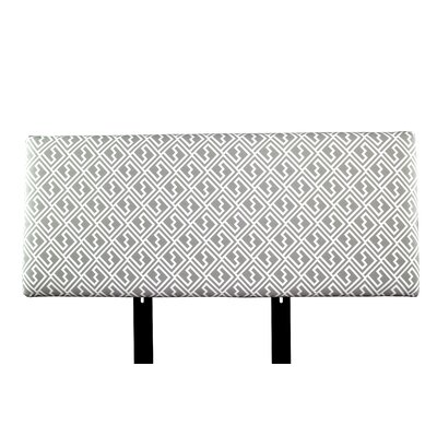 Alice Shakes Upholstered Panel Headboard Size: Full, Upholstery: Gray/White