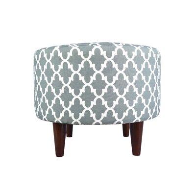 Sophia Fulton Round Ottoman Upholstery: Blue/Gray