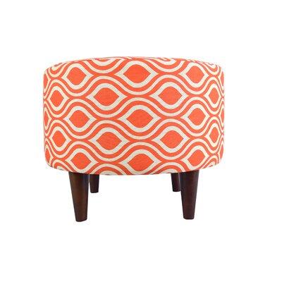 Sophia Nicole Ottoman Upholstery: Orange/Gray