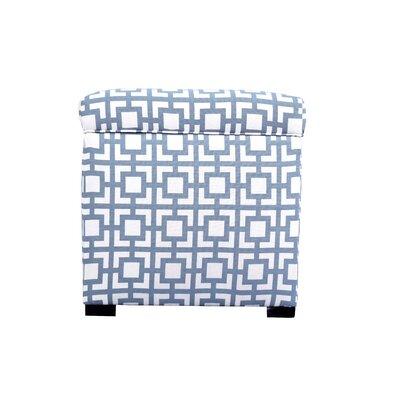 Tami Gigi Square Storage Ottoman Upholstery: Blue/Gray