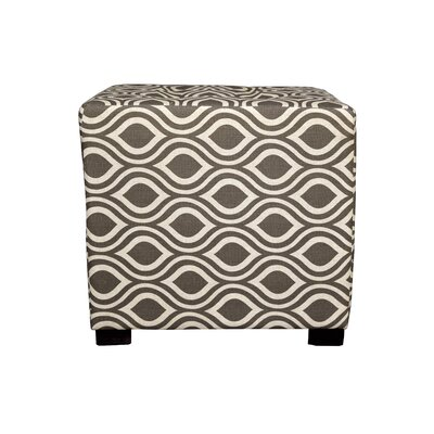 Merton Nicole Square 4-Button Upholstered Ottoman Upholstery: Brown/Gray