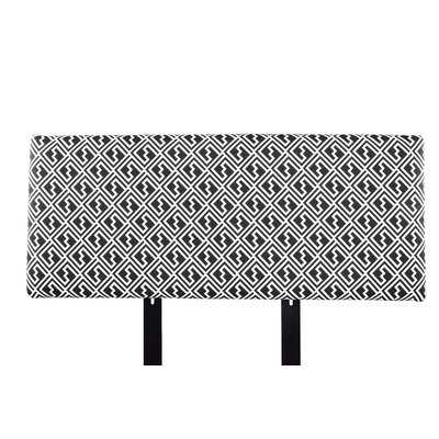 Alice Shakes Upholstered Panel Headboard Size: California King, Upholstery: Black/White