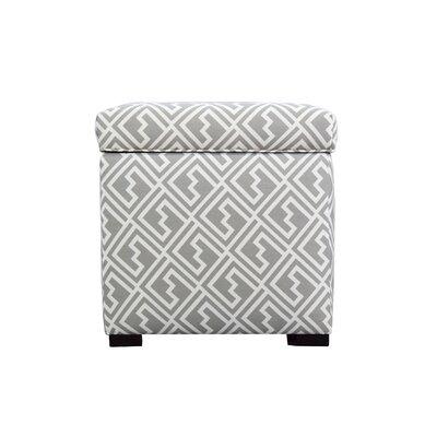 Tami Shakes Storage Ottoman Upholstery: Gray/White