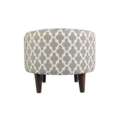 Sophia Fulton Round Ottoman Upholstery: Beige/Tan