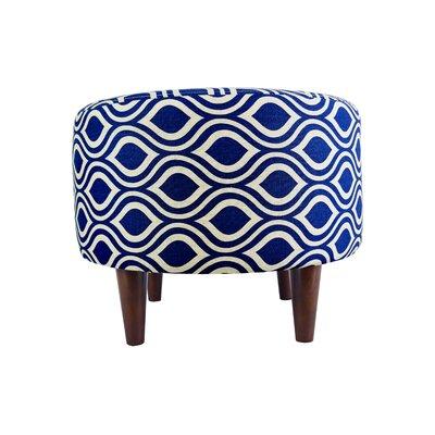 Sophia Nicole Ottoman Upholstery: Dark Blue/Gray