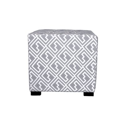 Merton Shakes Square 4-Button Upholstered Ottoman Upholstery: Gray/White