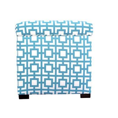Tami Gigi Storage Ottoman Upholstery: Blue/White