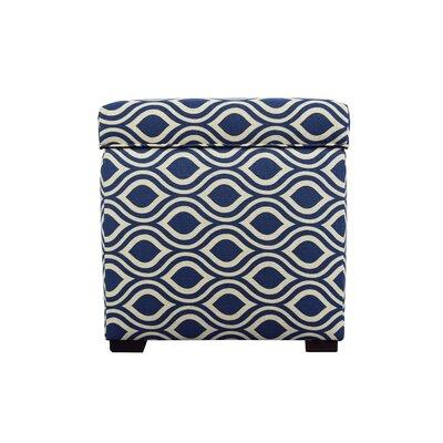 Tami Nicole Square Storage Ottoman Upholstery: Dark Blue/Gray