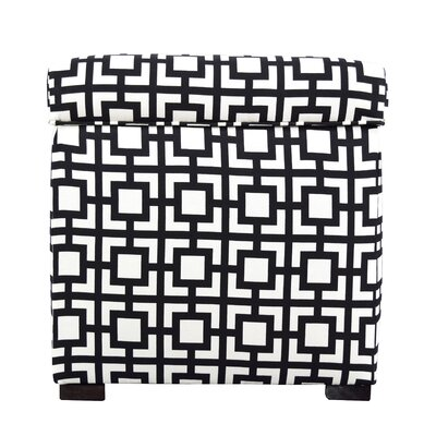 Tami Gigi Square Storage Ottoman Upholstery: Black/White