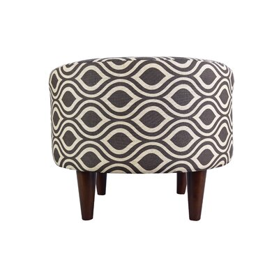 Sophia Nicole Round Ottoman Upholstery: Brown/Gray