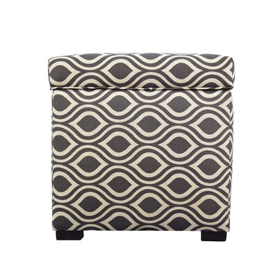 Tami Nicole Square Storage Ottoman Upholstery: Brown/Gray
