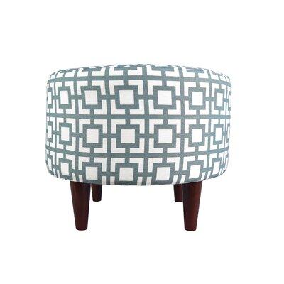 Sophia Gigi Ottoman Upholstery: Blue/Gray