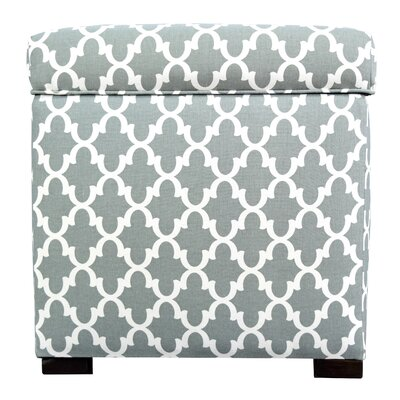 Tami Fulton Square Storage Ottoman Upholstery: Blue/Gray