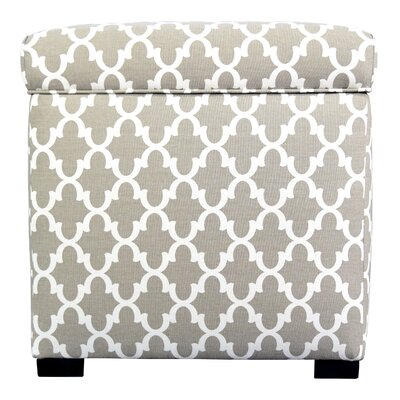 Tami Fulton Square Storage Ottoman Upholstery: Beige/Tan