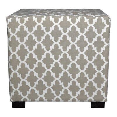 Merton Fulton Square 4-Button Upholstered Ottoman Upholstery: Beige/Tan