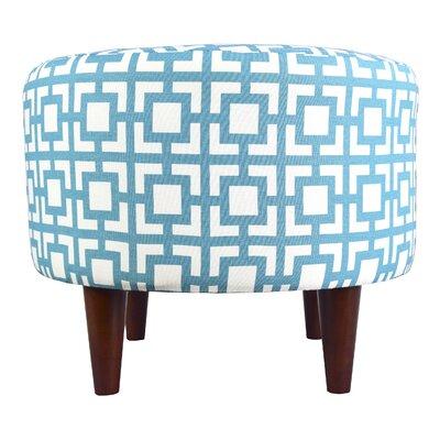Sophia Gigi Ottoman Upholstery: Blue/White