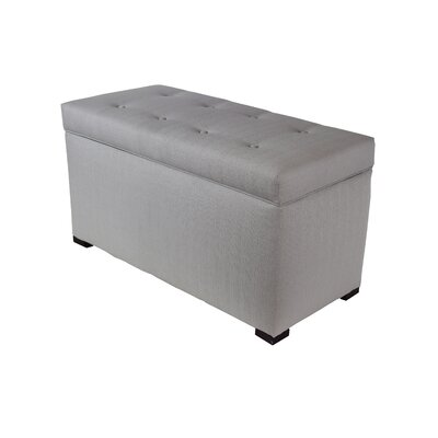 Hobson Box Storage Ottoman Color: Silver