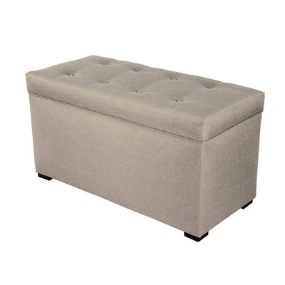 Sachi Legged Box Storage Ottoman Color: Gray