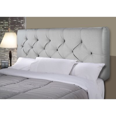 Hobson Upholstered Panel Headboard Size: Twin, Upholstery: Khaki