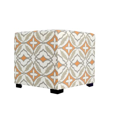 Eden 4 Button Tufted Ottoman Upholstery: Orange