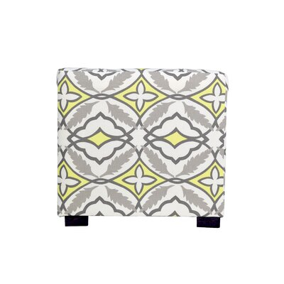 Eden 4 Button Tufted Ottoman Upholstery: Yellow