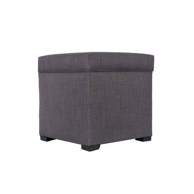 Tami Upholstered Storage Ottoman Upholstery: Gray / Red Tint