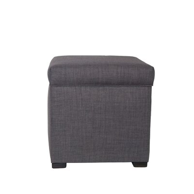HJM100 Mini Sole Secret Shoe Storage Ottoman Upholstery Color: Gray Red