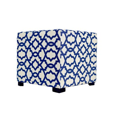 Sheffield 4 Button Tufted Ottoman Upholstery: Navy Blue