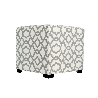 Sheffield 4 Button Tufted Ottoman Upholstery: Grey