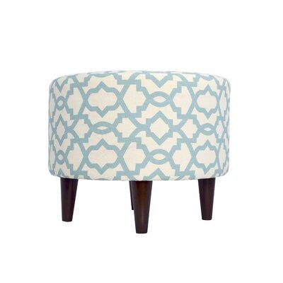 Sheffield Upholstered Ottoman Upholstery: Aquamarine