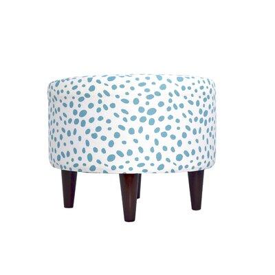 Togo Upholstered Ottoman Upholstery: Blue
