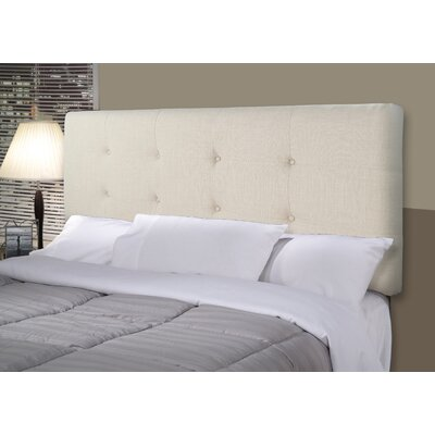 Ali Upholstered Panel Headboard Size: Twin, Upholstery: Beige