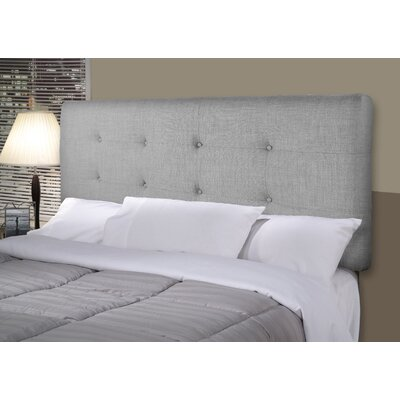 Ali Upholstered Panel Headboard Size: Full, Upholstery: Dark Gray