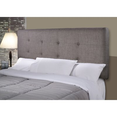 Ali Upholstered Panel Headboard Size: Full, Upholstery: Gray / Red Tint