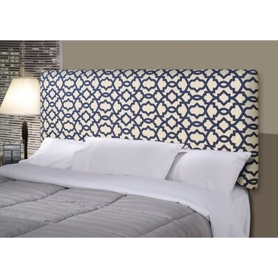 Sheffield Alice Upholstered Panel Headboard Size: Full, Upholstery: Navy Blue