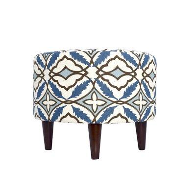 Eden Upholstered Ottoman Upholstery: Blue