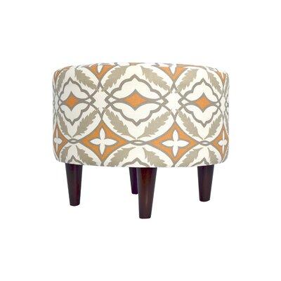 Eden Ottoman Upholstery: Orange