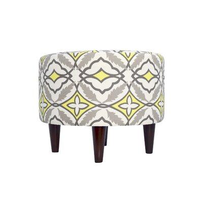 Eden Upholstered Ottoman Upholstery: Yellow
