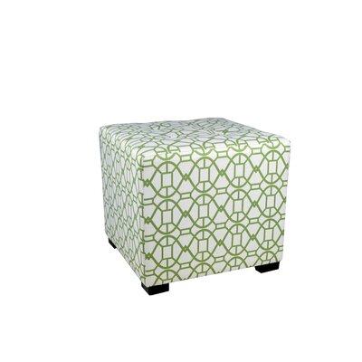 Noah Cube Ottoman Upholstery: Green