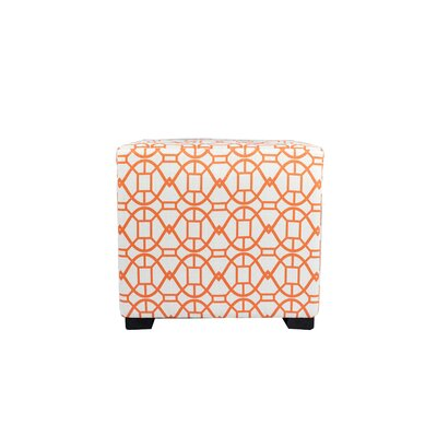 Noah 4 Button Tufted Ottoman Upholstery: Orange