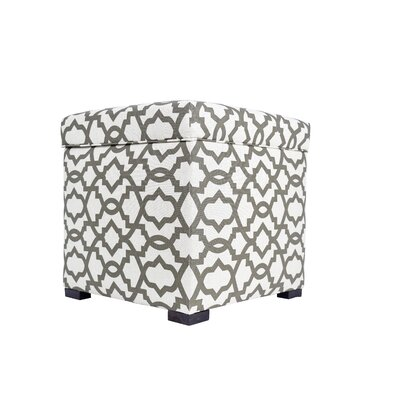 Sheffield Upholstered Storage Ottoman Upholstery: Brown