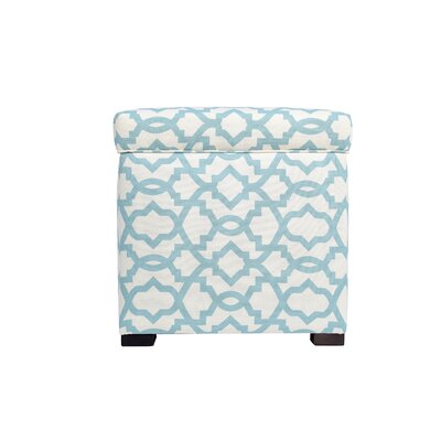 Devaney Storage Ottoman Upholstery: Light Blue