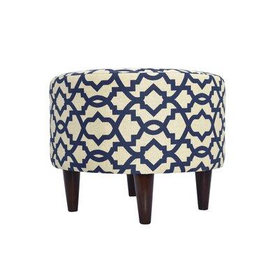 Sheffield Upholstered Ottoman Upholstery: Navy Blue