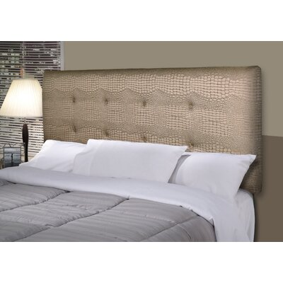 Tillie Ali Upholstered Panel Headboard Size: Twin, Upholstery: Silver