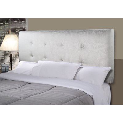 Tillie Ali Upholstered Panel Headboard Size: California King, Upholstery: Silver